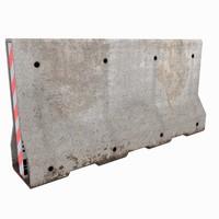 concrete barrier block 3d model