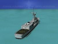 3d model perry class frigate