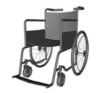 wheelchair wheel chair 3d model