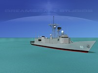 3d max perry class frigates uss