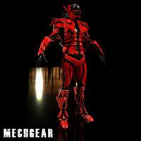 mech character futuristic 3d model