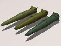 iskander family missile 3d 3ds