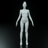 3d model girl arch viz