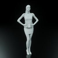 girl arch viz 3d model