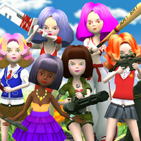 candy squad girls 3d model