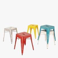 3d model tolix stool h45