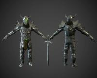 3d character sword