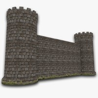 3d model of castle walls
