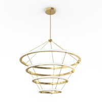 halo chandelier lamp 3d max