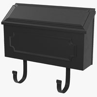3d model of wall mount mailbox 2