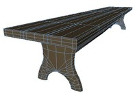 3dsmax bench xml dae