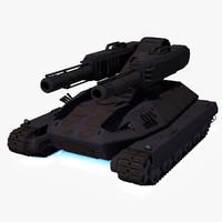tank sci fi 3d model