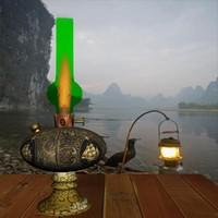 3dsmax oil lantern