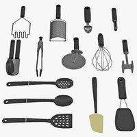 kitchen tool set 2 3d model