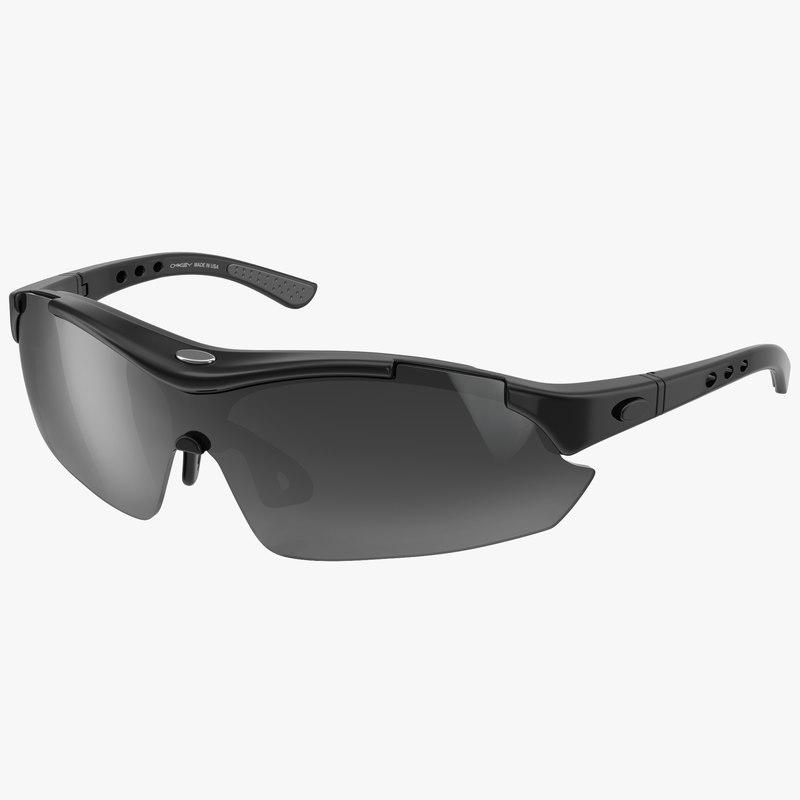 Sport Glasses Black 3d model 01.jpg