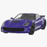 sports car generic 3d model