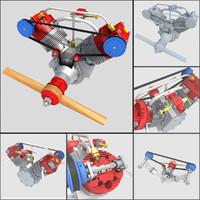 Aircraft Radial Engine V2