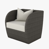 3ds max outdoor lounge chair