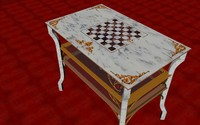 coffee little table style 3d c4d