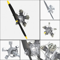 Aircraft Radial Engine V5