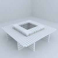 park benches 3d max