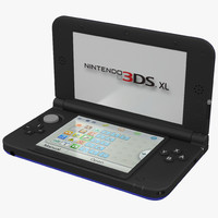 nintendo xl blue 3d model