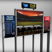 3d stadium baseball score board