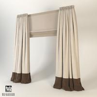 3d curtains modern set