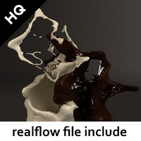 3d splash realflow flow