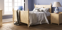 louis painted panelled bed 3d max