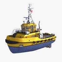 tugboat ships 3ds