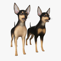 miniature pinscher dog 3d max