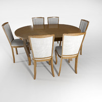 3ds max classic chair table set