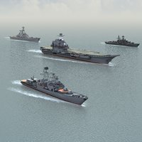 3d model ships russian navy kuznetsov
