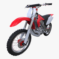 3d fbx motocross bike