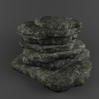 Low poly Stone hill pack