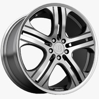3d model brabus monoblock wheels