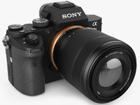 3d model of sony alpha 7 ii