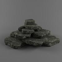 Low poly Stones