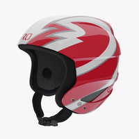 giro sestriere helmet red 3d model