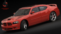dodge charger srt-8 2006 3d model