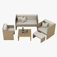 3d max outdoor lounge set