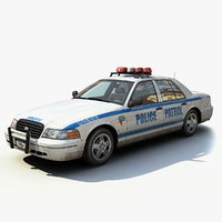 new york police interceptor 3d model