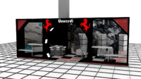 3d model of unverdi exhibition stand design