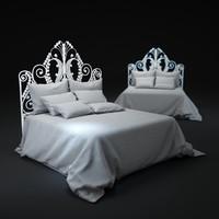 wicker-peacock-bed 3d model