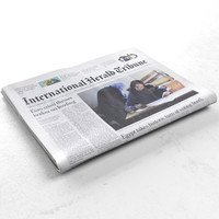 international herald tribune newspaper 3d model