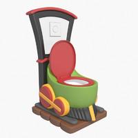 toilet train 3d max