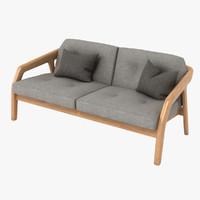 zeitraum friday sofa 3d model