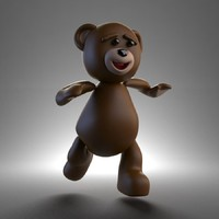 3d teddy bear rigged