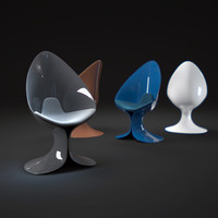 calla-lily-chair 3d 3ds